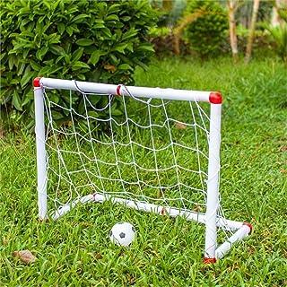 Keliour Fotboll nät fotboll mål för barn fotboll mål nät bärbar utomhus- och inomhusleksak för barn fotboll träning (färg:...