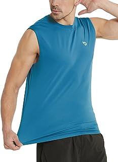 BALEAF Men's Sleeveless Tank Top Quick Dry Muscle t Shirts Gym Workout Bodybuilding Running Tech Tops