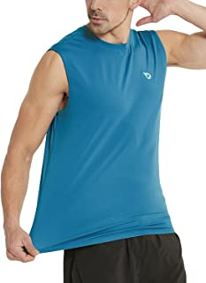 Men's Muscle Sleeveless Shirts Performance Gym Workout Tank Top
