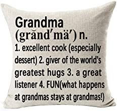 Andreannie Best Grandma Gifts Warm Sweet Sayings Grandma Giver of The World's Greatest Hugs Explanation Cotton Linen Throw...