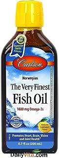 Carlson Labs The Very Finest Norwegian Fish Oil Liquid Omega-3's DHA & EPA - Lemon - 6.7 oz
