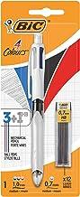 BIC 4 colores - Bolígrafo Multifunción 3+1HB con 12 Minas de Recambio 0,7 mm