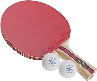 ニッタク(Nittaku) 卓球 ラケット シェークハンド ボール2個つき レジャー 遊び 公式試合使用可 【ラバー張上げ済み】