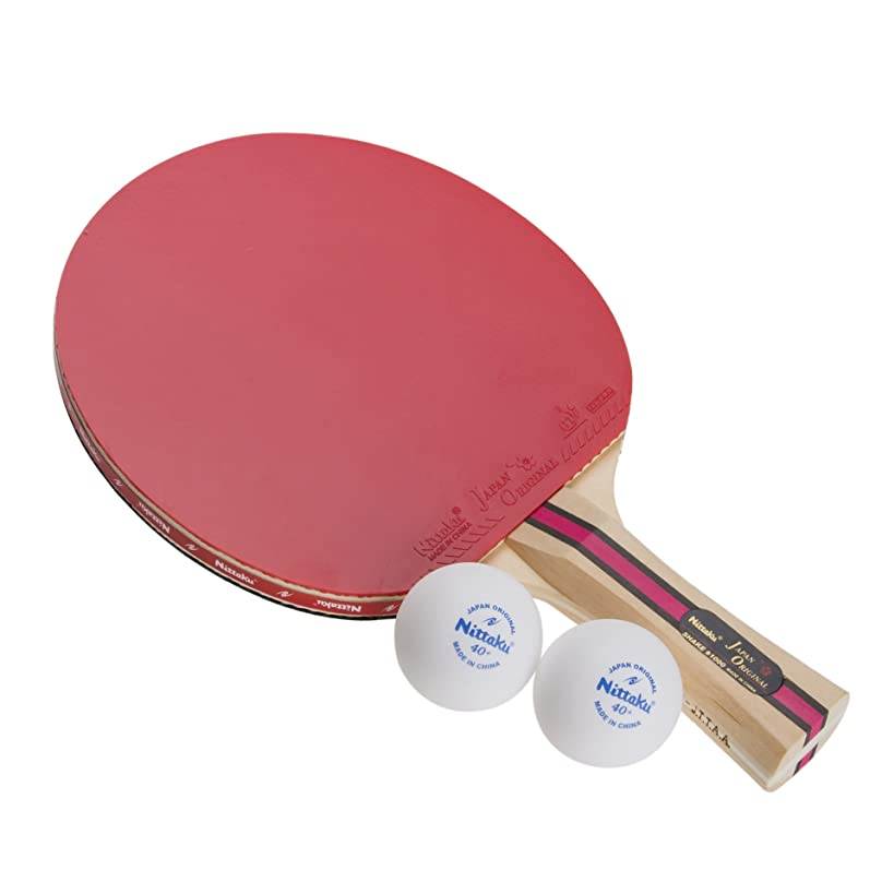 アリーナシーフードコンピューターニッタク(Nittaku) 卓球 ラケット ジャパンオリジナルプラス シェークハンド 貼り上げ