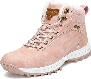 comprar comparacion Mishansha Hombre Mujer Botas de Nieve Senderismo Impermeables Deportes Trekking Zapatos Fur Forro Aire Libre Boots Talla.3...