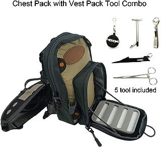 Aventik Fly - Bolsa para el pecho de la pesca con mosca, ultraligera, con múltiples bolsillos, con chaleco