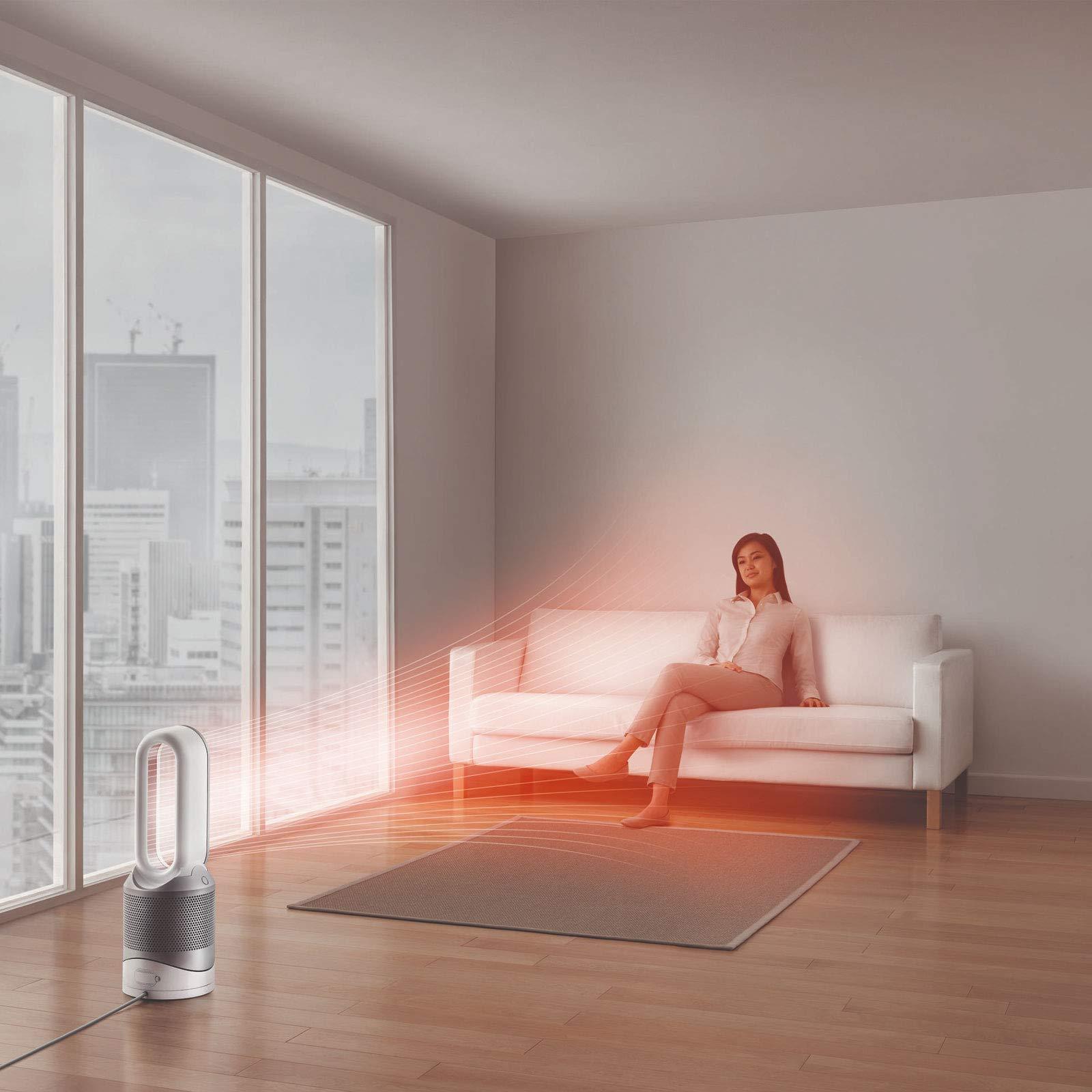 Dyson Pure Hot + Cool Link Ventilador calefactor purificador, 64 dBa nivel de sonido, filtro HEPA, 209 l/s, 2000 W, 10 Velocidades, Blanco/Plateado: Amazon.es: Hogar
