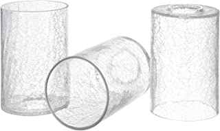Canomo Clear Crack Finish Glass Lamp Shade Cylinder, Light Fixture Replacement Glass Shade with 1-5/8-Inch Fitter Opening,...