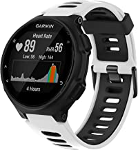 ANCOOL Compatible with Forerunner 735XT/220/230/235/620/ 630 Band,Soft Silicone Sport Strap Replacement Wristband for Garmin Forerunner 735XT Smartwatch Accessory -White