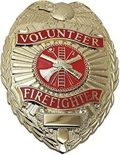 Metal Metal Badge, Fire-Rescue Industry Type, Badge Patch Type, Gold Color