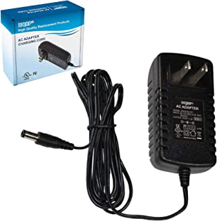 HQRP AC Adapter Compatible with Gold's Gym Stride Trainer 410 Elliptical GGEL63910 Power Supply Cord [UL Listed] + Euro Plug Adapter