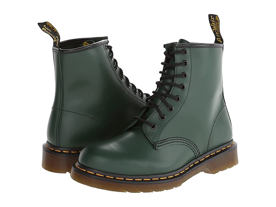 Dr. Martens 1460 (Green Smooth) Lace-up Boots