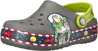 Crocband FL Buzz Lights Clog K Crocs Slate Grey , Tamanho 24 BRA