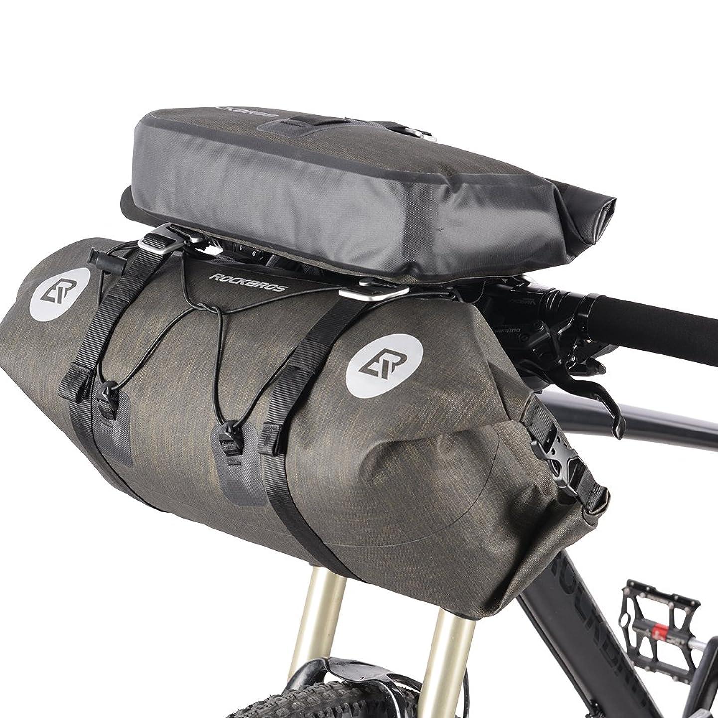 の中で敬の念コウモリROCKBROS(ロックブロス)ハンドルバーバッグ 自転車 フロントバッグ 防水 反射 付き セット 大容量