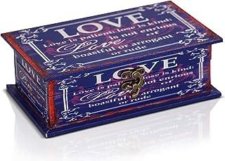 comprar comparacion Brynnberg Caja de Madera 20x12x6,5cm - Cofre del Tesoro Pirata de Estilo Vintage - Hecha a Mano - Diseño Retro - joyero