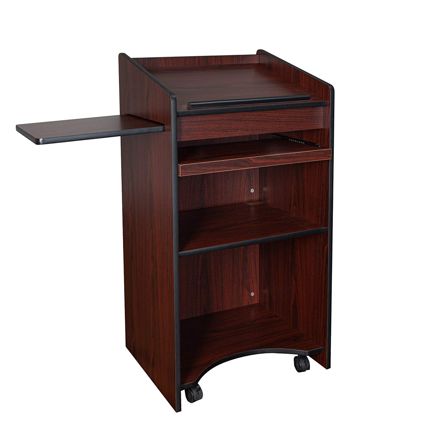 OEF Furnishings Mobile Floor Lectern Keyboar Side with OFFicial mail order SEAL limited product Shelf And