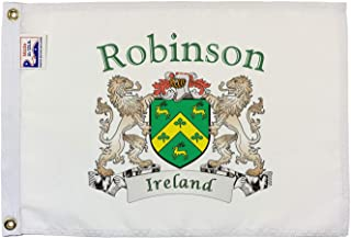 Robinson Irish Coat of Arms Small White Flag - 12