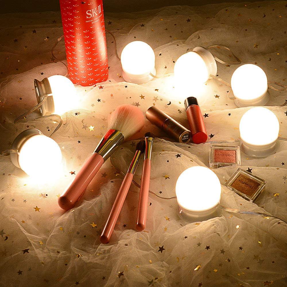Mise /à jour avec lautocollant Premium 3M Lampes /à Miroir Ajustables de Style Hollywood avec 10 Ampoules DEL 10 Modes de Luminosit/é Lirex Vanity Mirror Lights Miroir NON Inclus