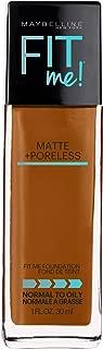 Maybelline Fit Me Matte + Poreless Liquid Foundation Makeup, Mocha, 1 fl. oz. Oil-Free Foundation