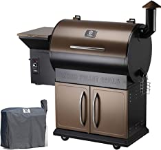 Z Grills ZPG-700D 2020 Upgrade Wood Pellet Grill & Smoker, 8 in 1 BBQ Grill Auto Temperature Control, inch Cooking Area, 700 sq in Bronze