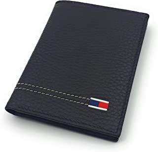 franartPiel - Tarjetero, billetero vertical Piel Ubrique con bandera tricolor - Alta Calidad - Negro