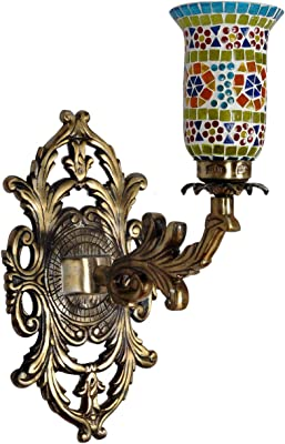 Lalhaveli Mosaic Glass Wall Up Light Lamp Wall Sconce Lighting for Home Decor Living Room Office