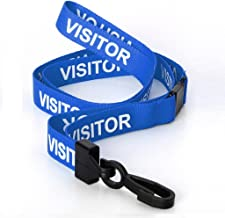 CKB Ltd 20X Blue Visitor Lanyards Breakaway Safety Lanyard Neck Strap Swivel Metal Clip for Id Card Holder - Pull Quick Release Design