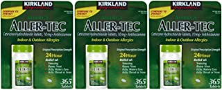 Kirkland Signature Aller-tec 10mg Tablets - 365 ct - 3 pk