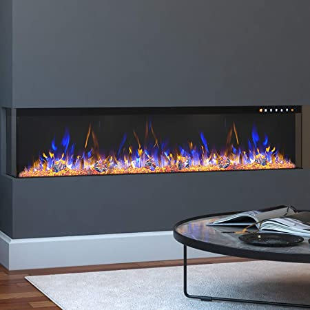 """Regal Flame Spectrum Modern Linear Electric 3 Sided Wall Mounted Built-in Recessed Fireplace (50"""")"""