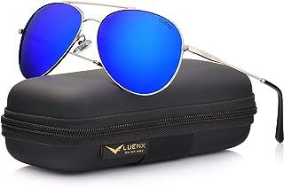 028c338c1c1 LUENX Aviator Sunglasses Polarized Men  UV 400 Protection 59MM Fashion  Style