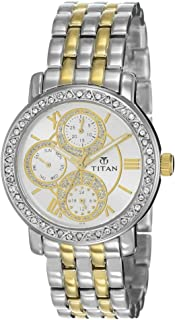 Titan Purple Analog Silver Dial Women's Watch -NK9743BM01