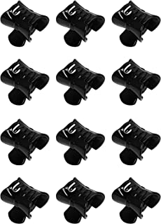 Confidence Plain Hair Claw Clip for Girls and Women (Black,Set Of 12)