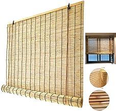 Bamboe rolgordijn, rieten jaloezieën, verduisterend rolgordijn in natuurlijke kleur, voor buiten/binnen/familie/tuin, terr...