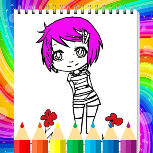 Cute Chibi Girl Coloring Book