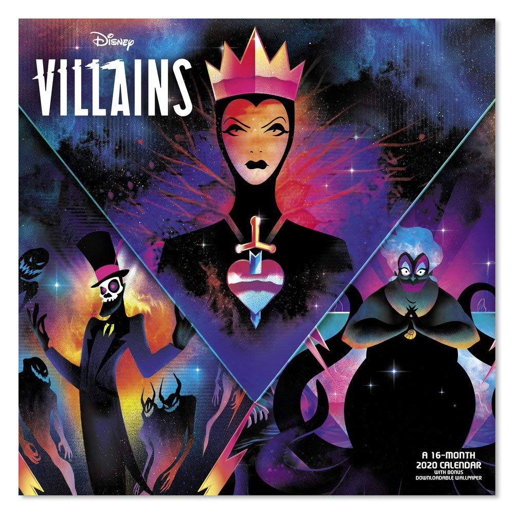 Amazon Com 2020 Disney Villains Wall Calendar Ddw1352820 Office Products
