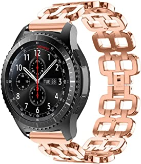 Watch Band,Cinhent Stainless Steel Chain Style Bracelet Smart Strap for Samsung Gear S3