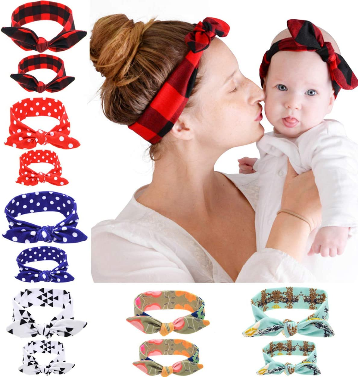 ba knife Headbands Multicolor Pattern Headband, Bow Head Wrap Hair Band for Women