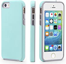 CellEver iPhone 5/5s/SE Case, Dual Guard Protective Shock-Absorbing Scratch-Resistant Rugged Drop Protection Cover for iPhone 5/5S/SE (Mint)