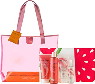 Sanctuary Spa Gift Set, Watermelon Glow Summer Gift Bag With