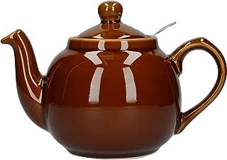 London Pottery Farmhouse Teapot, Rockingham Brown, 2 Cup, Closed Box