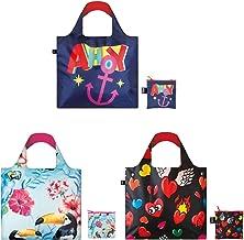 حقائب تسوق قابلة لإعادة الاستخدام وايلد أدفنتشرز من لوكي، مجموعة من 3 قطع، طيور، أهوي، قلوب