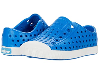 Native Kids Shoes Jefferson (Toddler/Little Kid) (Megamarine Blue/Shell White) Kids Shoes