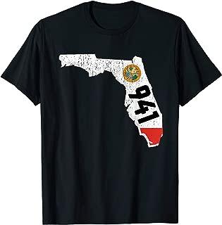 Tampa Bay Area Code 941 Florida Distressed Gift T-Shirt