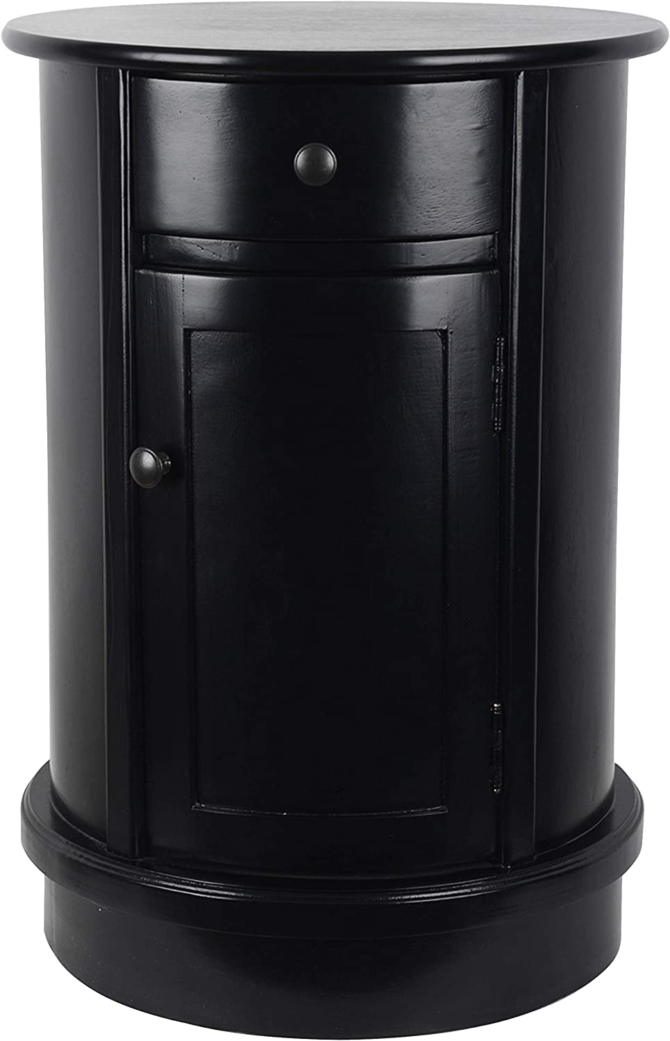 Decor Therapy FR8623 Side Table, Satin Black