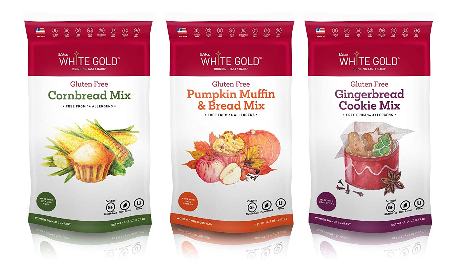 Extra White Gold Holiday Seasonal Mix Quality inspection Ginger Collection 3 - Pack latest