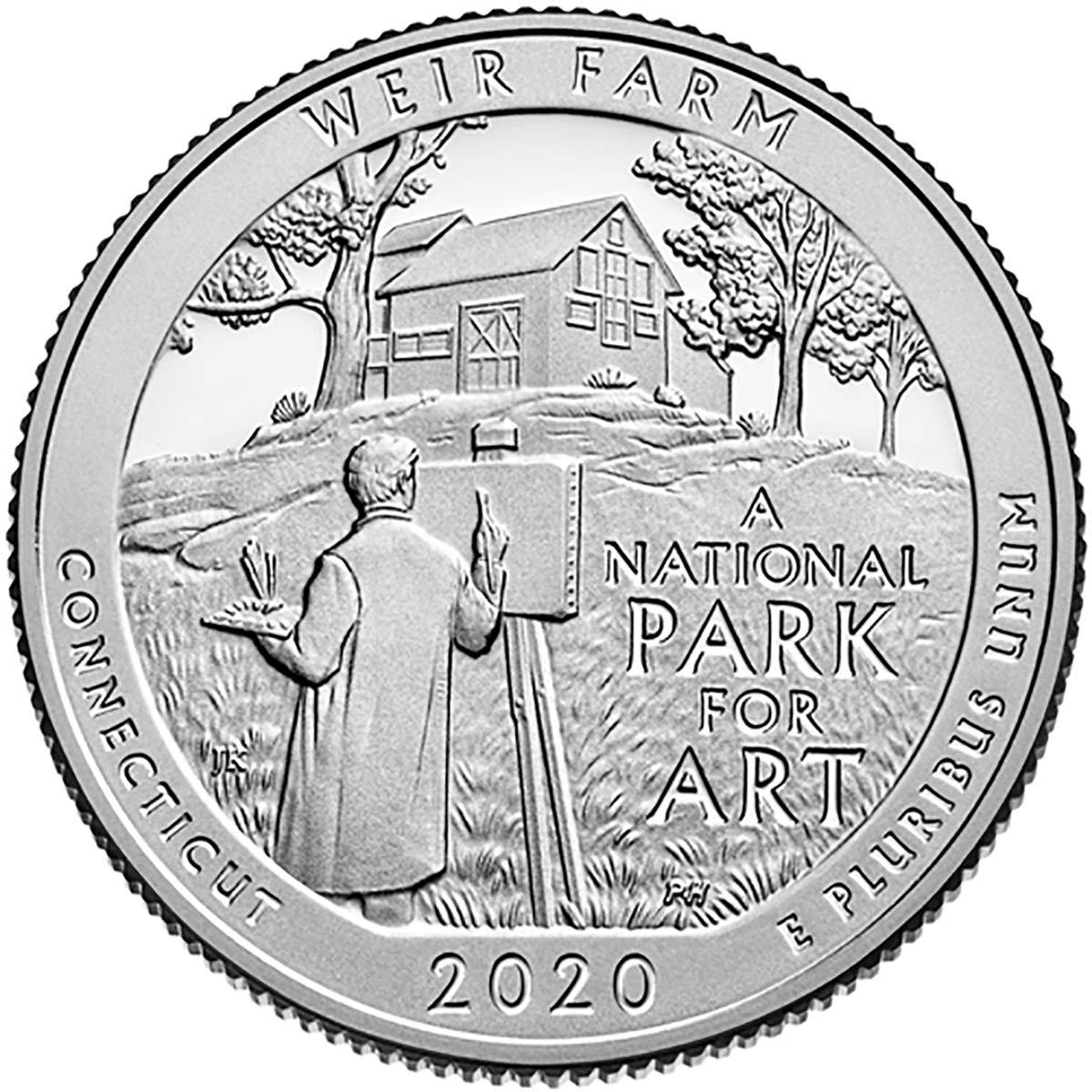 2020 W Weir Farm National Historic Single Quarter Denver Mall Our shop most popular Quar Coin Site