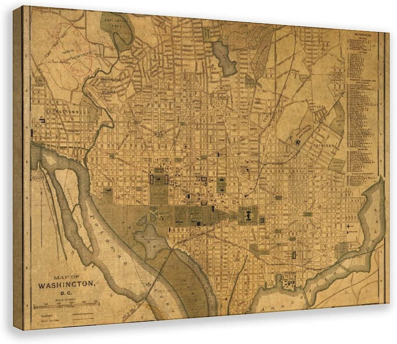 Vintage Maps Poster21 Max 90% OFF Canvas Poster Sports Landsca Decor Spring new work one after another Bedroom