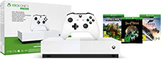 Pack Console Microsoft Xbox One S All Digital 1 To Blanc 3 Jeux inclus (Minecraft + Sea..