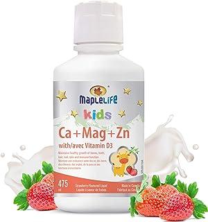 MapleLife Kids Calcium, Magnesium and Zinc + D Strawberry, 475 ml