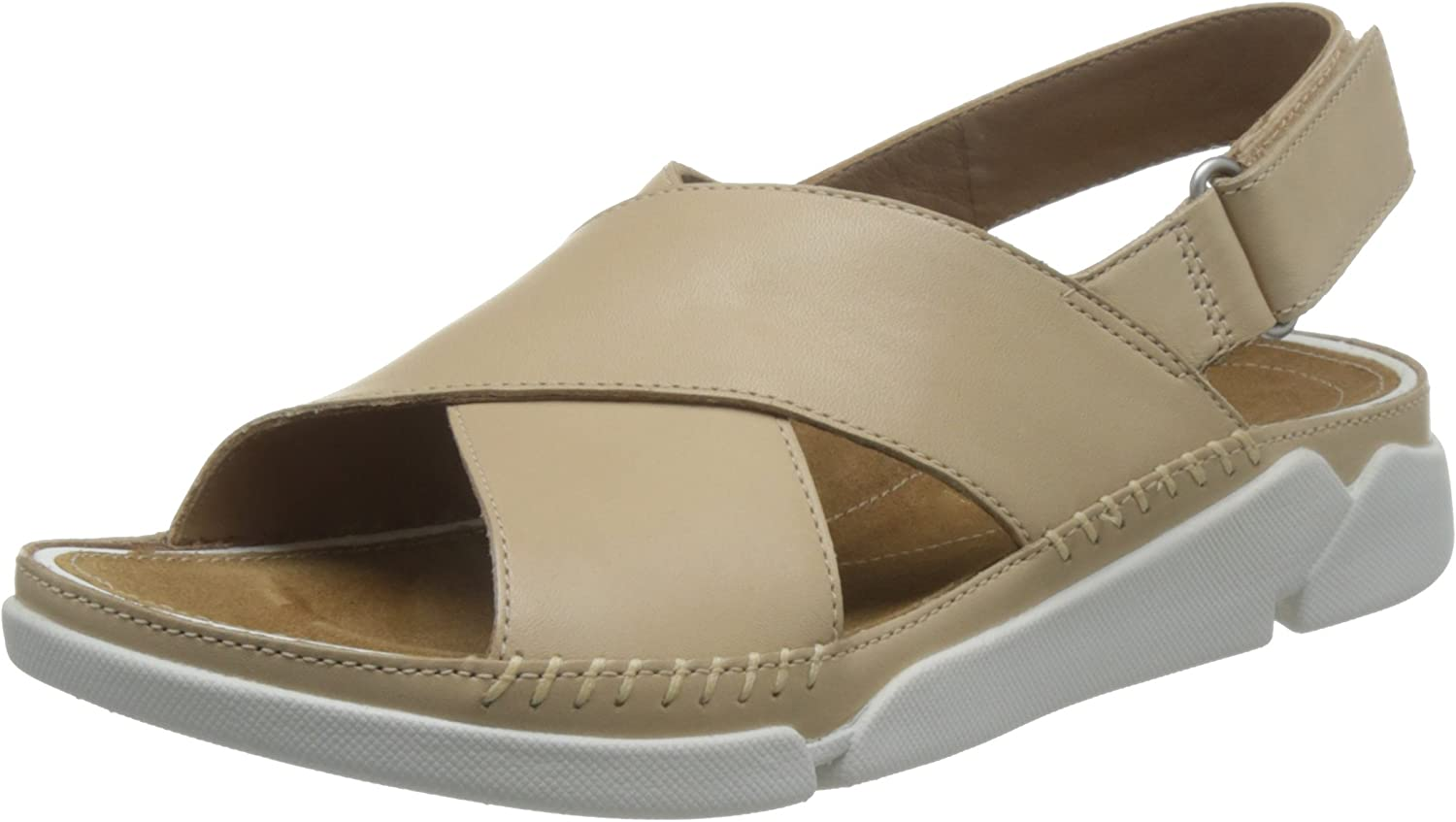 Clarks Tri Alexia - Nude (Leather) Womens Sandals